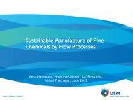Sustainable Manufacture of Fine Chemicals by ... - Chemspec Events
