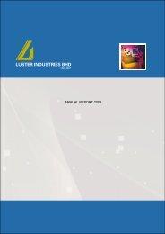 LUSTER INDUSTRIES BHD - Announcements - Bursa Malaysia