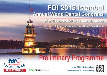 Preliminary Programme - FDI World Dental Federation