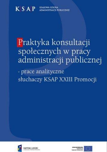 Praktyka konsultacji społecznych w pracy administracji publicznej