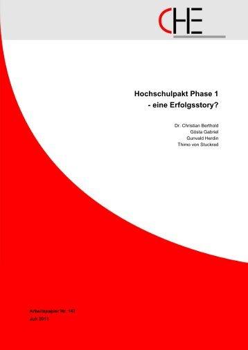 Hochschulpakt Phase 1 - Centrum für Hochschulentwicklung