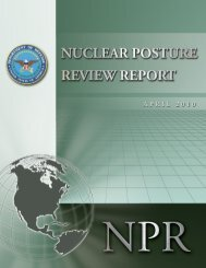 2010 Nuclear Posture Review Report - Washington Post