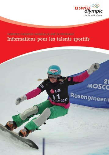 Informations pour les talents sportifs - Swiss Olympic