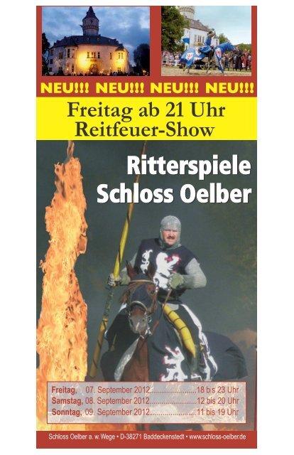 Schloss Oelber Ritterspiele 2012 Programm und Infos - ZeitOrte