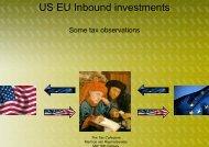 US EU Inbound investments