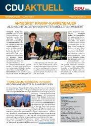 CDU Aktuell 1/2011 - CDU Saar