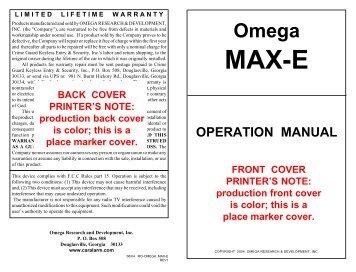 MAX Owner Paginated - car alarm