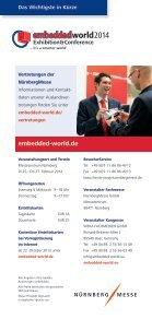 Ihre Informationen zum Messebesuch - embedded world - Seite 6