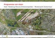 Programma van eisen - Gemeente Zoetermeer