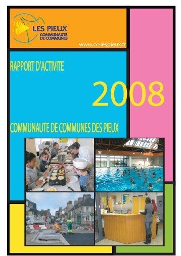 Rapport d'activité des services 2008 - Communauté de communes ...