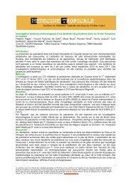 Investigation entomo-épidémiologique d'une épidémie de ...