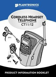 CT11 User Guide and CT12 User Guide - Plantronics