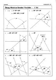 Winkelberechnungen an Geraden und Parallelen – Lösung