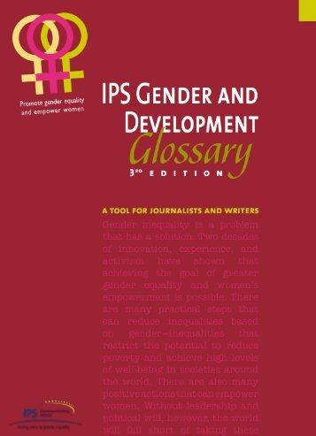 Gender and Development Glossary - IPS Inter Press Service