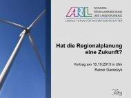 Hat die Regionalplanung eine Zukunft? - ARL