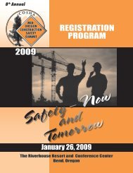 2009 - Oregon Occupational Safety & Health Division