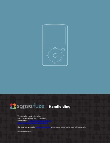 Handleiding - SanDisk