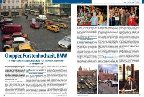 Chopper, Fürstenhochzeit, BMW - Regensburger Stadtzeitung