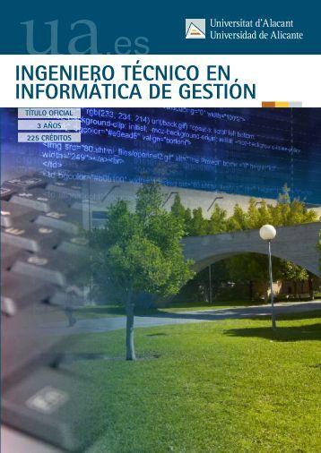 Ingeniero Técnico en Informática de Gestión - Universidad de Alicante