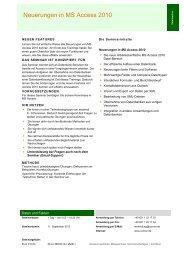 Neuerungen in MS Access 2010 - Com on Business Coaching Center