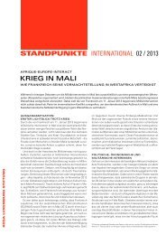 StandpunktE INTERNATIONAL krieg in mAli 02 / 2013 - Rosa ...