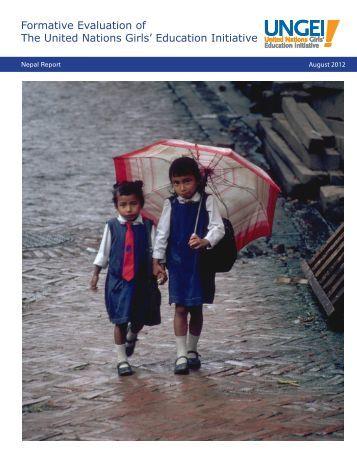 Nepal Evaluation - United Nations Girls' Education Initiative