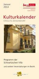 Kulturkalender - Schwartzsche Villa