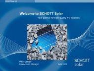 Welcome to SCHOTT Solar