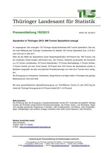 Aquakultur in Thüringen 2012: 890 Tonnen Speisefisch erzeugt