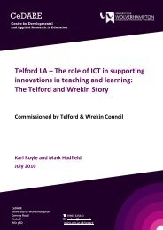 Telford LA – The role of ICT in supporting - University of ...