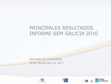 gem galicia 2010 - Páxinas persoais - USC