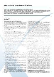 Information für Patientinnen und Patienten Acido-X® - Axapharm