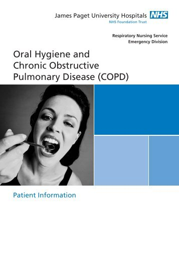 Oral Hygiene and Chronic Obstructive Pulmonary Disease (COPD)
