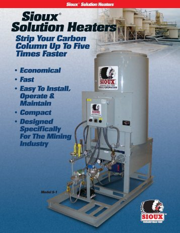 Solution Heater Brochure - Sioux Steam Cleaner Corporation