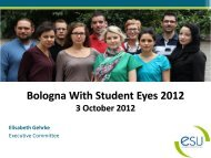 Bologna With Student Eyes 2012