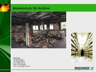 Brandschutz für Archive