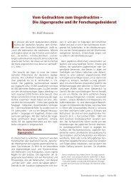Vom Gedrucktem zum Ungedruckten - Deutsches Jagd Lexikon
