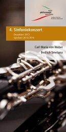 Programmheft 4. Sinfoniekonzert - Neue Philharmonie Westfalen
