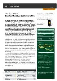 Barrick Gold: eine hochkarätige Goldminenaktie - Jyske Bank