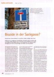 Biozide in der Sackgasse - colourclean Berlin