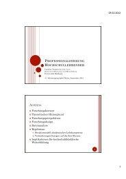 professionalisierung hochschullehrender - ZHW - Universität Hamburg