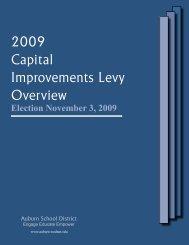 2009 Capital Improvements Levy Overview - Auburn School District