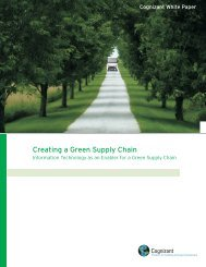Creating a Green Supply Chain - Cognizant