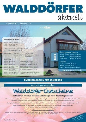 Ausgabe Mai 2013 - Gemeinde Sandberg
