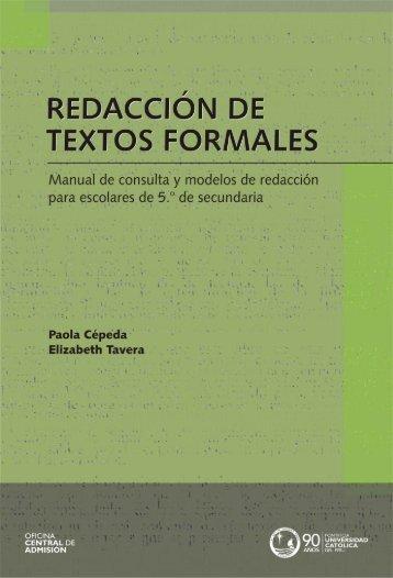redacción de textos formales - Pontificia Universidad Católica del Perú