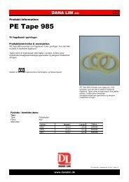 PE Tape 985 - Dana Lim A/S