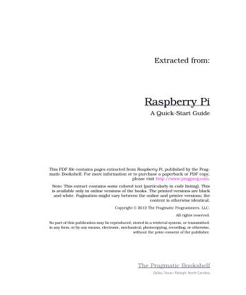 Raspberry Pi - The Pragmatic Bookshelf
