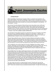 A Priest Forever - Saint Josemaria Escriva: Founder of Opus Dei