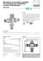 Miscelatore termostatico regolabile con manopola, per ... - Caleffi