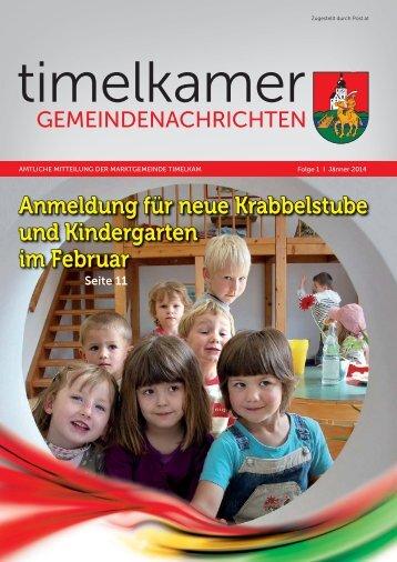 Timelkamer Gemeindenachrichten JAN 2014.indd - Marktgemeinde ...